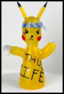 ShoeLess Glass - Pikachu Thug Life Rig - AVAILABLE FOR PRE-ORDER PURCHASE - The Bong Czar Smokeshop & Heady Czar Glass Gallery