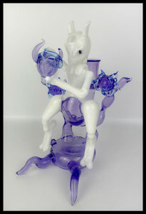 ShoeLessGlass - Mewtwo Rig and Cap - PRE-ORDER SALE - The Bong Czar Smokeshop & Heady Czar Glass Gallery