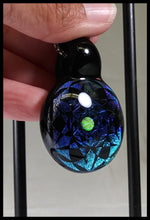 Load image into Gallery viewer, Subtl Glass - Blue/green/Black Dichro Pendant - The Bong Czar Smokeshop & Heady Czar Glass Gallery