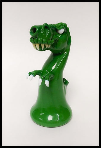 Tony Kazy Glass - Green T-Rex Rig - The Bong Czar { The-Bong-Zar }