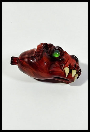 Tony Kazy Glass - Red Dragon Head bubble cap 🐉 - The Bong Czar
