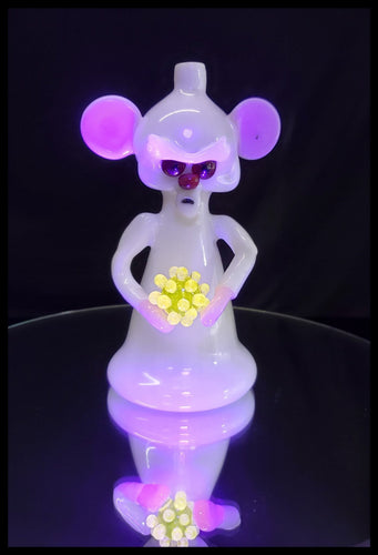 Tony Kazy Glass - The Brain with his UV Covid-19 molecule Rig - The Bong Czar Smokeshop & Heady Czar Glass Gallery