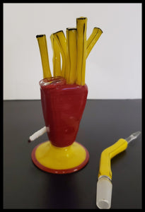 Weapons of Glass Destruction - Frylock with removable Dabber - The Bong Czar Smokeshop & Heady Czar Glass Gallery