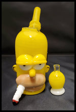 Load image into Gallery viewer, Weapons of Glass Destruction - Homer Dab Rig with yellow bubble cap - The Bong Czar Smokeshop & Heady Czar Glass Gallery