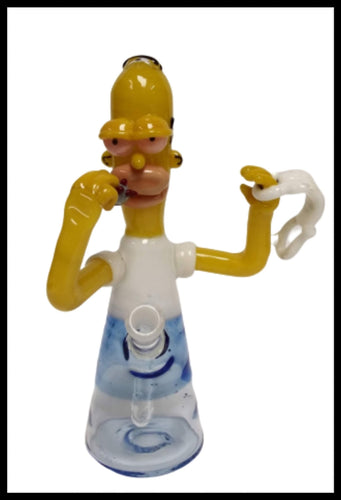 Weapons of Glass Destruction - Homer Rig Eating his covid Coronut - The Bong Czar Smokeshop & Heady Czar Glass Gallery
