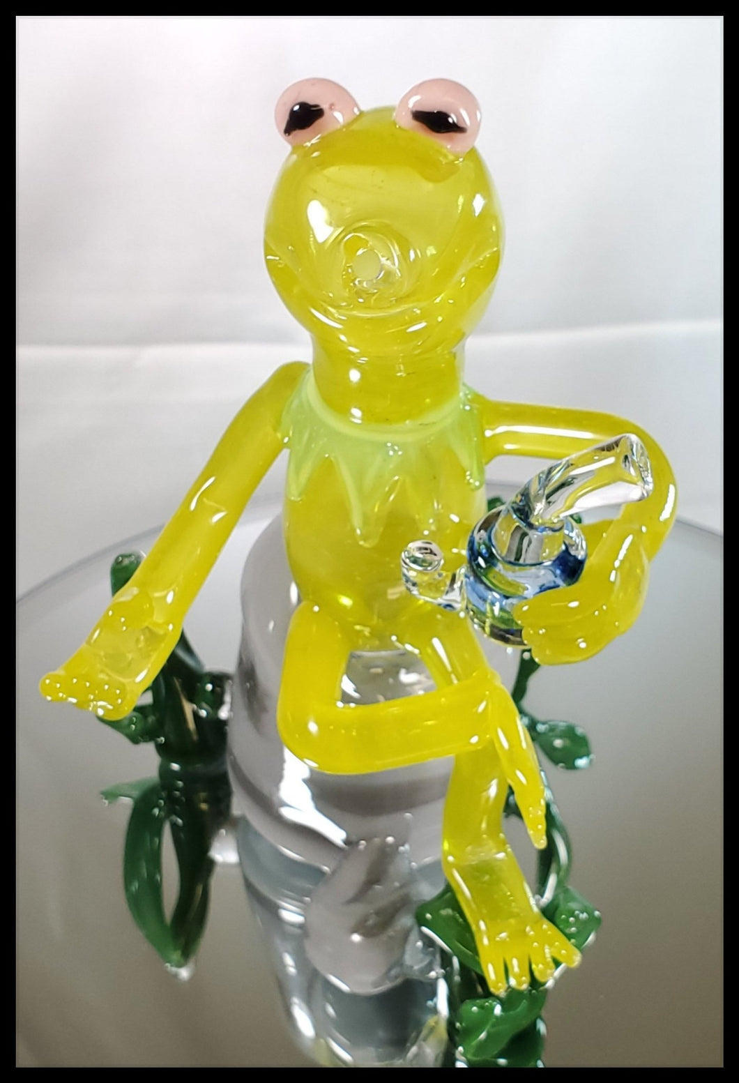 Weapons of Glass Destruction - Kermit Dab Rig - The Bong Czar Smokeshop & Heady Czar Glass Gallery