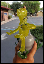 Load image into Gallery viewer, Weapons of Glass Destruction - Kermit Dab Rig - The Bong Czar Smokeshop & Heady Czar Glass Gallery