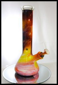 "Wrapped Bong - 12"" Thick Beaker Bong Set w/Matching Bowl and down Stem - The Bong Czar Smokeshop & Heady Czar Glass Gallery"