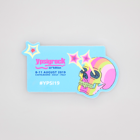 Sticker - Adesivo #Ypsi19 [Candy Striped Skull]