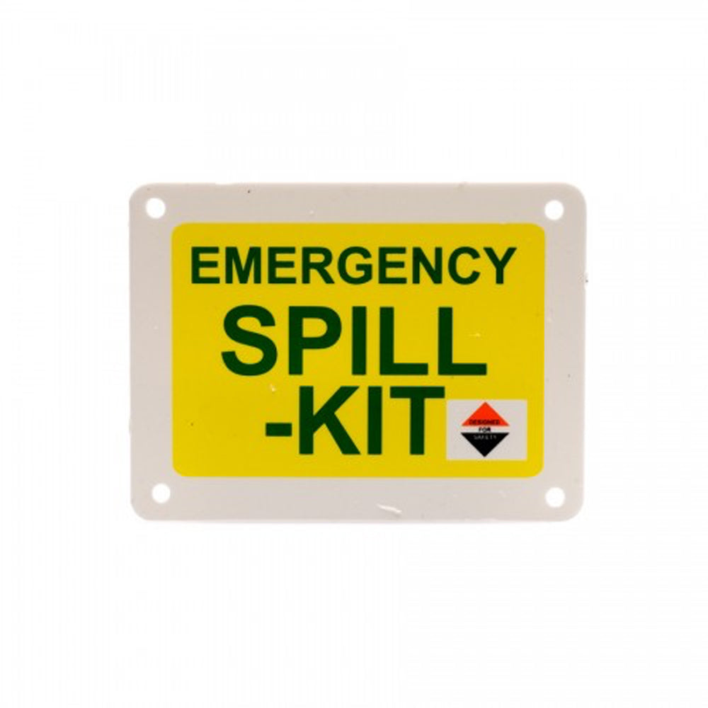 Spill-Kit Symbol on Plastic