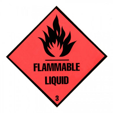 Triplex Warning Diamond - Flammable Liquid