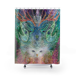 Shapeshifter Shower Curtain