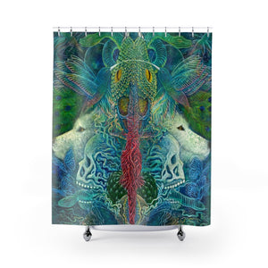 Self Reflection Shower Curtain