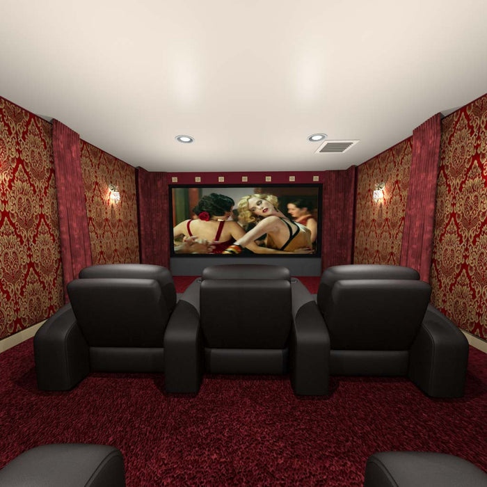 Classic-red-and-gold-home-theater