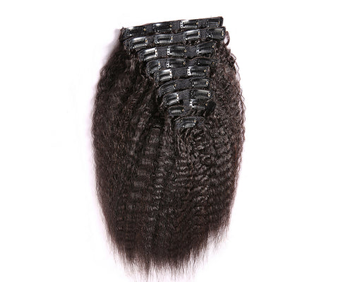 Clip In Extensions | Love Collection | Kinky Straight| 1, 1b or 2