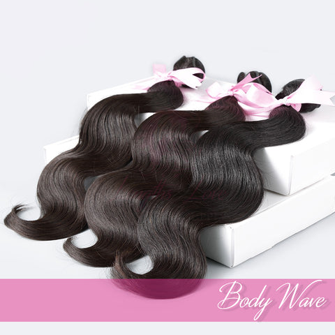 Three Bundle Deal of Virgin Hair Wefts | Love Collection | Bodywave