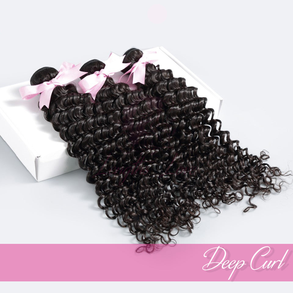 THREE BUNDLE DEAL OF VIRGIN HAIR WEFTS | LOVE COLLECTION | Deep Curly