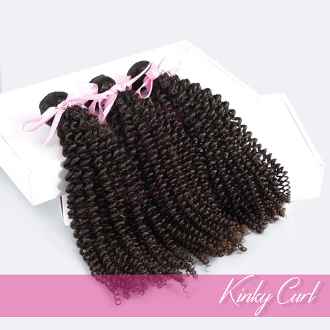 THREE BUNDLE DEAL OF VIRGIN HAIR WEFTS | LOVE COLLECTION | Kinky Curly