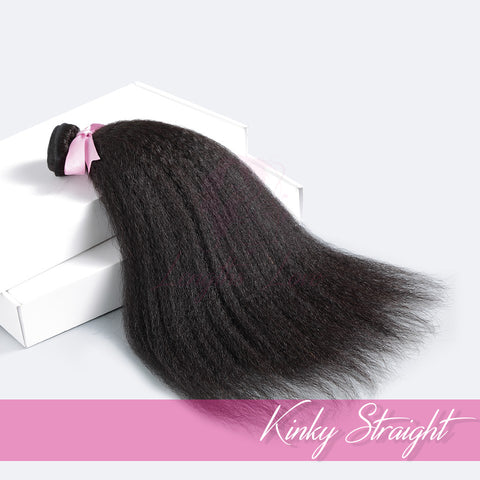 THREE BUNDLE DEAL OF VIRGIN HAIR WEFTS | LOVE COLLECTION | Kinky Straight