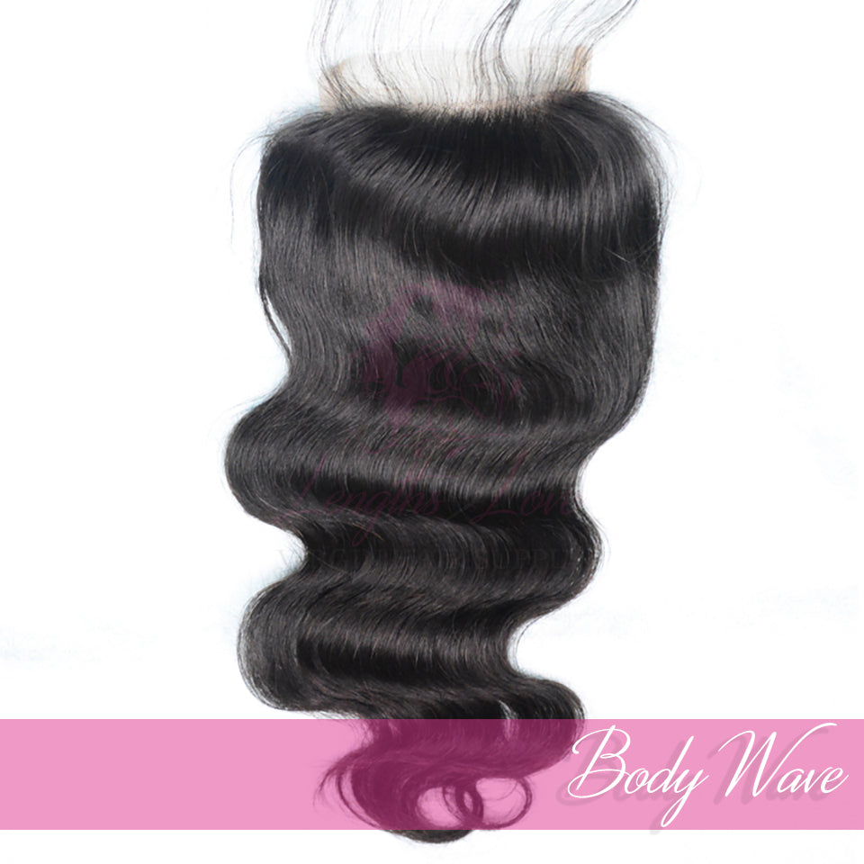 Virgin Hair Closures | Love Collection | Bodywave | 4x4