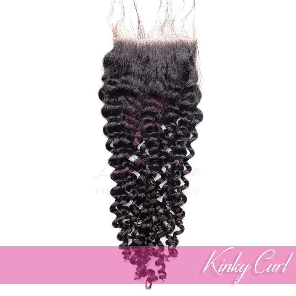 Virgin Hair Closures | Love Collection | Kinky Curly