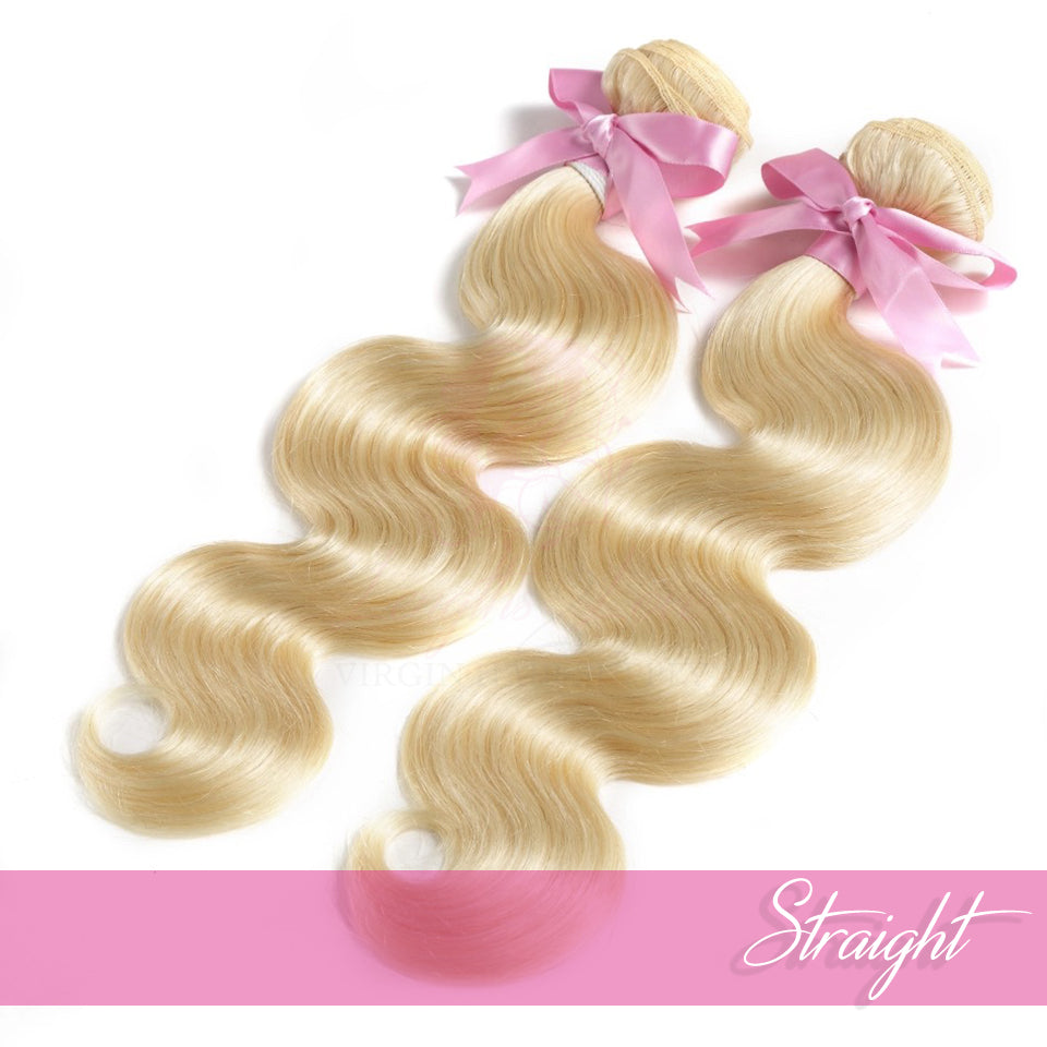 613 Blonde Human Hair Wefts | Love Collection | Bodywave