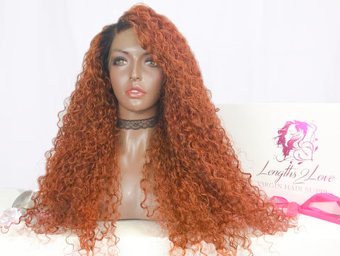 HUMAN HAIR CUSTOMIZED LACE UNIT | EMBER | 24""