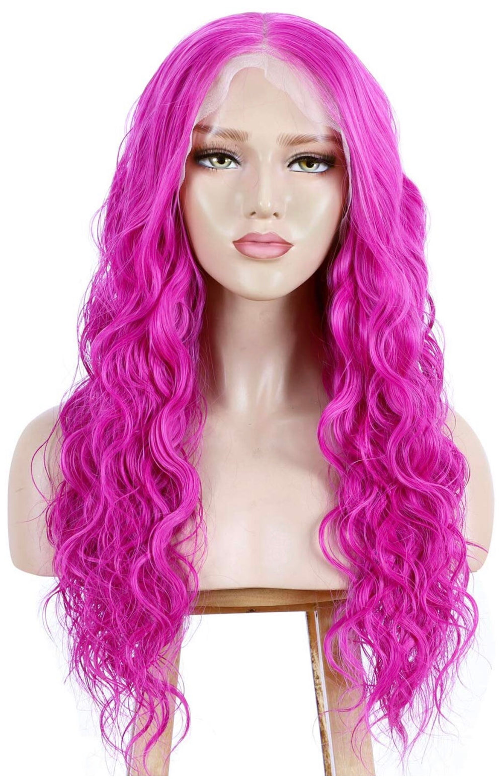 SYN Collection | Synthetic Hair Lace Unit | Pink Wavy 22""