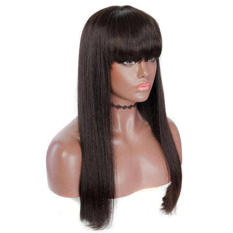 Uncustomized Virgin Hair Lace Wig | Straight w/ Bangs