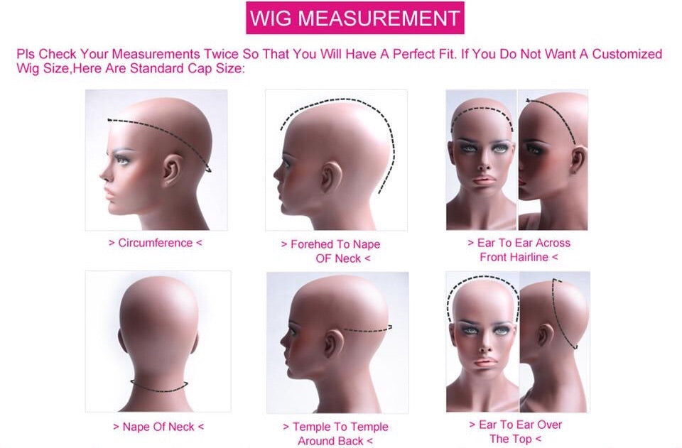 Customized Wig Cap Size