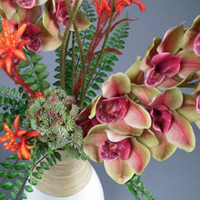 Load image into Gallery viewer, BLAZE - Cymbidium Orchid & Kangaroo Paw Silk Flowers