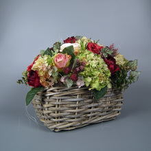 Load image into Gallery viewer, JESSICA - Rose Hydrangeas & Berry Autumn in Wicker Basket