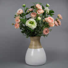 Load image into Gallery viewer, Peach & White Ranunculus Hand-tied