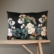 Load image into Gallery viewer, Vanilla Fly Apple Blossom Black Velvet Cushion