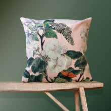 Load image into Gallery viewer, Vanilla Fly Apple Blossom Pink Velvet Cushion