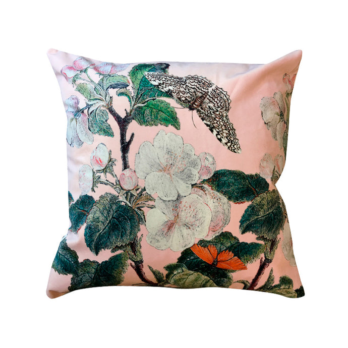 Vanilla Fly Apple Blossom Pink Velvet Cushion