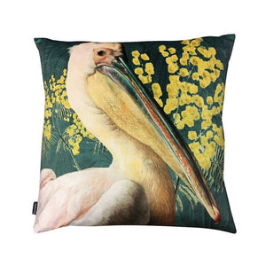 Vanilla Fly Pelican Green Velvet Cushion