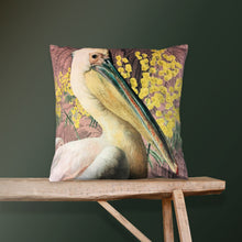 Load image into Gallery viewer, Vanilla Fly Pelican Pink Velvet Cushion