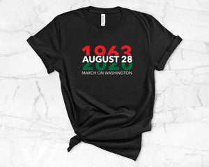 March on Washington 1963 2020 Pan African Flag Tee