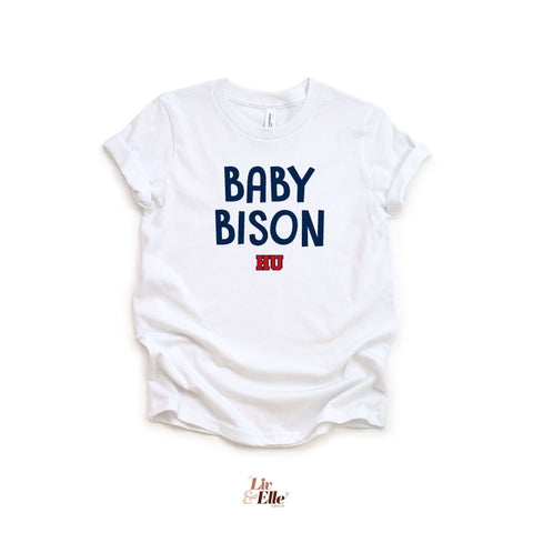 Baby Bison HU Onesie and Youth T-Shirt