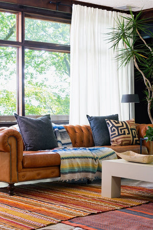 How to lighten up your leather Chesterfield sofa for spring