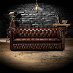 The Belgravia - The Belgravia Chesterfield Leather Sofa