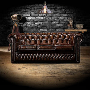 The Stanhope - The Stanhope Chesterfield leather sofa
