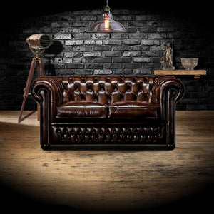 The Stanhope - The Stanhope Chesterfield leather sofa 2 seater
