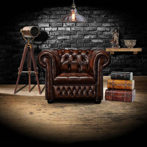 The Belgravia - The Belgravia Chesterfield Leather Armchair