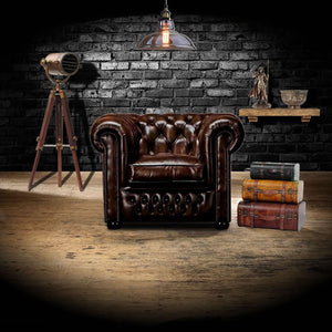 The Stanhope - The Stanhope Chesterfield leather armchair
