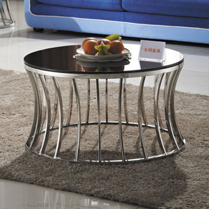 Sardo metal and tempered glass coffee table 2