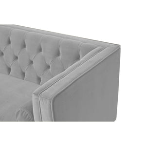 Scott  Modern 2 Seater Sofa in Grey Mirage Velvet jpg12