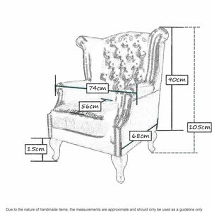 Wing Chair Dimenssions