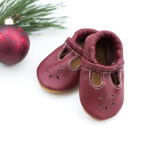 Load image into Gallery viewer, Cranberry t-strap shoes